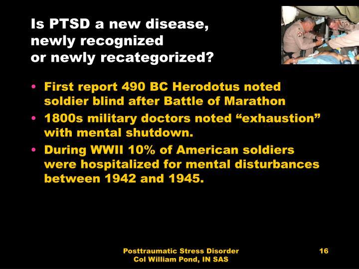 Is PTSD a new disease,