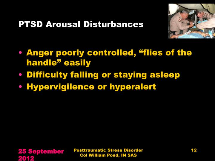 PTSD Arousal Disturbances
