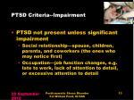 ptsd criteria impairment