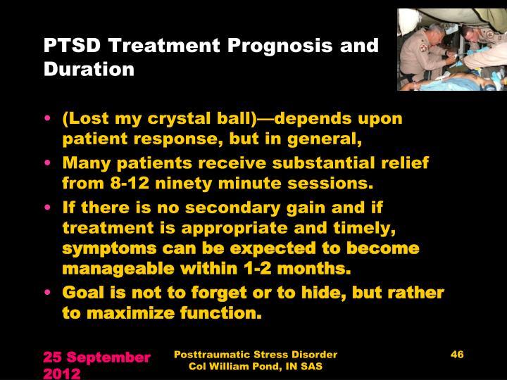 PTSD Treatment Prognosis and Duration