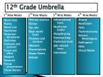12 th grade umbrella