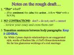 notes on the rough draft
