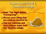 student activity 2 thankful collage