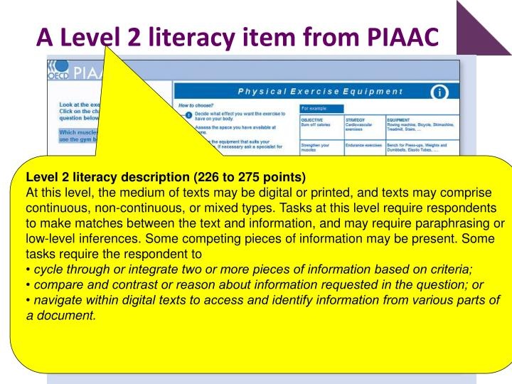 A Level 2 literacy item from PIAAC