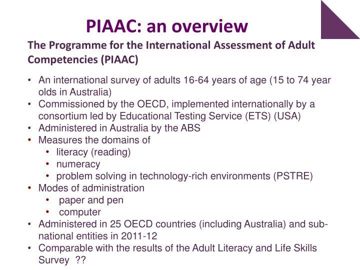 PIAAC: an overview