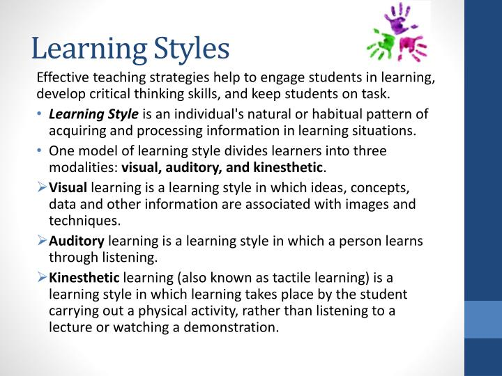 learning style in adu education essay Custom adult learning principles essay paper adult education has had a renewed focus nowadays given the proliferation in technological tools more adults are going back into classes to study as part of lifelong learning and therefore a need to have better ways.