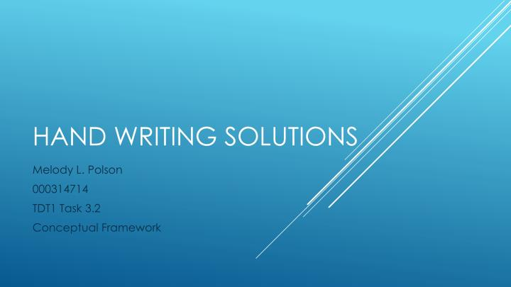 hand writing solutions n.