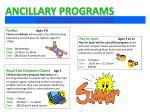 ancillary programs