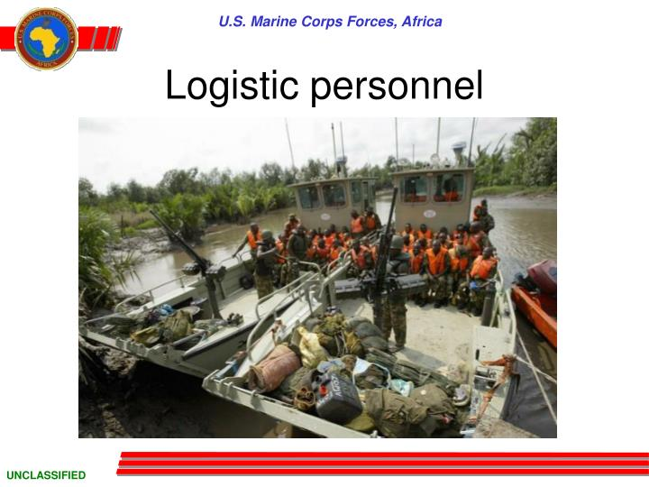 logistic personnel n.
