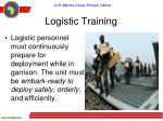 logistic training