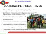 logistics representitives