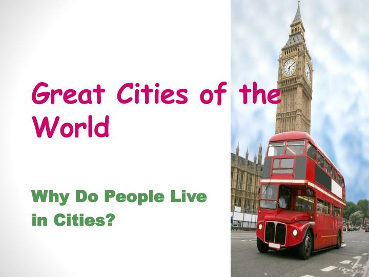 great cities of the world n.