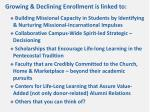 growing declining enrollment is linked to