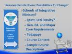 reasonable intentions possibilities for change5