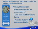 specific description a thick description in the midst of concrete situations5