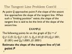 the tangent line problem cont d1