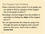 the tangent line problem