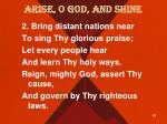 arise o god and shine1