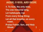 arise o god and shine3