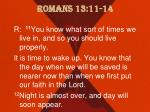 romans 13 11 14