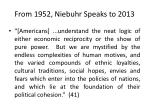 from 1952 niebuhr speaks to 2013