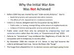 why the initial war aim was not achieved