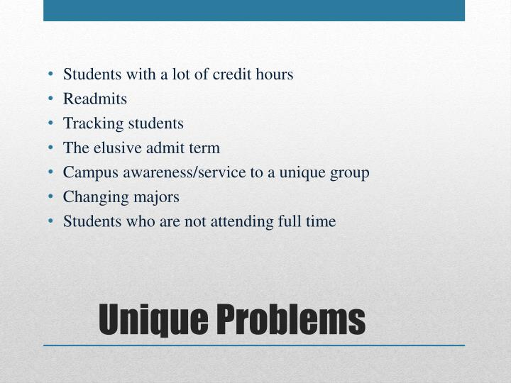 Students with a lot of credit hours