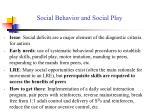 social behavior and social play