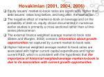 hovakimian 2001 2004 2006