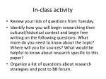 in class activit y