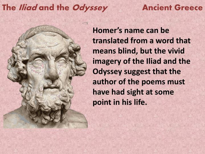 the use of imagery in the poem odyssey and the play oedipus Oedipus the king, also called oedipus tyrannos or oedipus rex, is widely regarded not only as his finest play but also as the greatest single text of greek tragic drama back-story: app 15 or 16 years before the play begins, oedipus, a stranger to thebes, became its king when he arrived following the unsolved murder of king laius,.