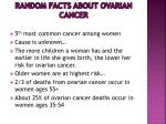 random facts about ovarian cancer