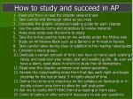 how to study and succeed in ap