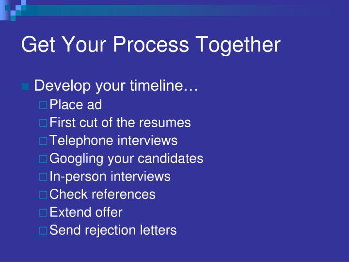 Get Your Process Together