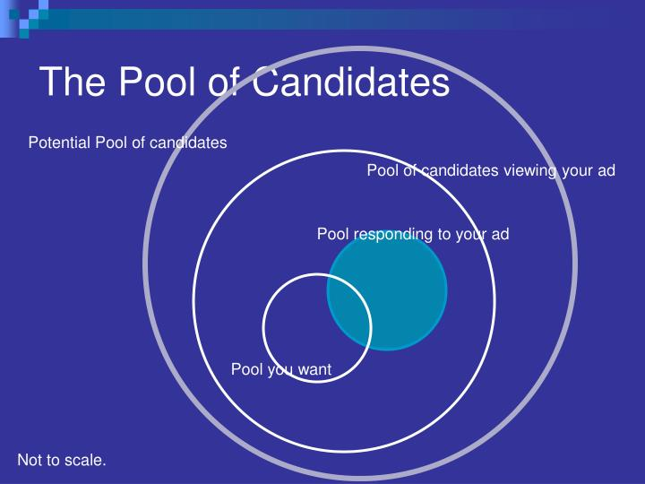 The Pool of Candidates
