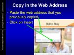 copy in the web address