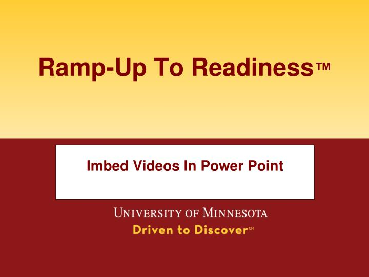 imbed videos in power point n.