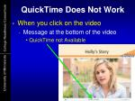 quicktime does not work