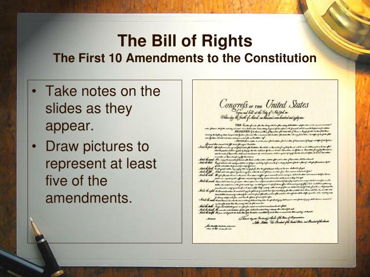 the bill of rights the first 10 amendments to the constitution n.