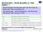 baumstruktur breite breadth vs tiefe depth 1