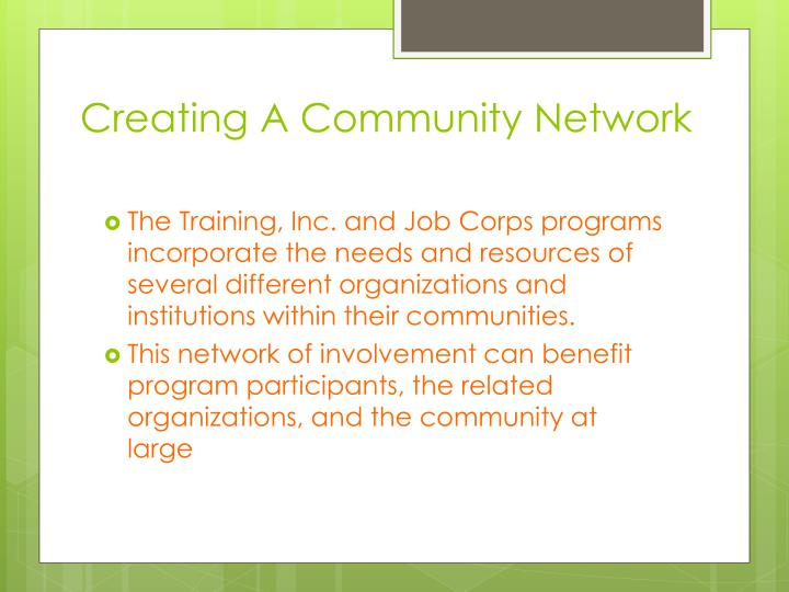 Creating A Community Network