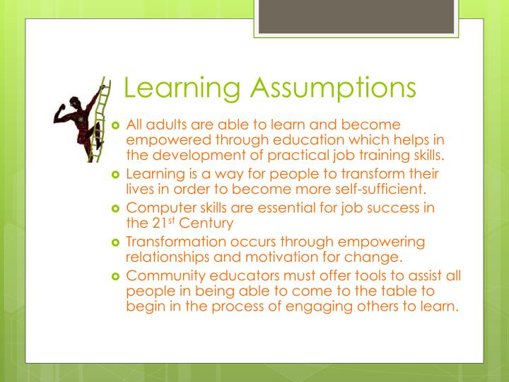 Learning Assumptions
