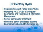 dr geoffrey ryder