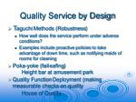 quality service by design