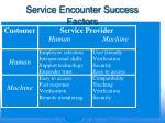 service encounter success factors