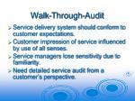 walk through audit