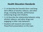 health education standards