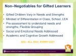 non negotiables for gifted learners