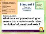 standard 1 teachers demonstrate leadership