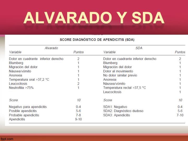 Alvarado y SDA